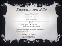 Open news item - Presentation Night 2016